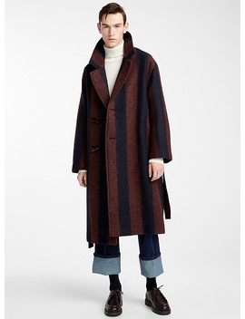 Duffle Striped Coat by Lemaire