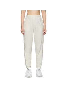 Ssense Exclusive Off White Velour Beachwood Lounge Pants by Gil Rodriguez