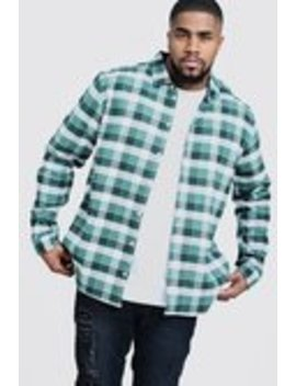 Big And Tall Regular Fit Check Shirt by Boohoo Man
