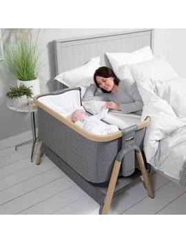 Tutti Bambini Co Zee Bedside Crib   Charcoal463/3387 by Argos