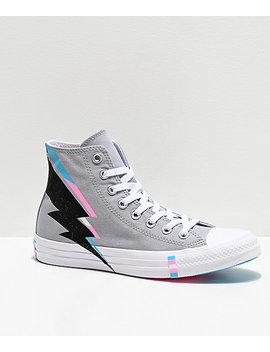 Converse Ctas Hi Pride Wolf Grey, Black, Blue &Amp; Pink Shoes by Converse