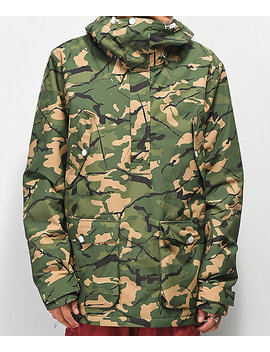 Wear Colour Forest Camo 10 K Anorak Snowboard Jacket by Colour Wear