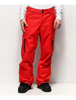 Dc Banshee Racing Red 10 K Snowboard Pants by Dc