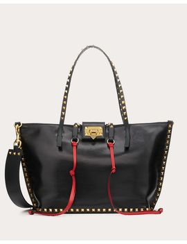 Medium Rockstud Hype Smooth Calfskin Tote by Valentino Garavani