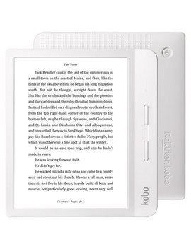 "Kobo Libra H2 O 7"" Digital E Book Reader With Touchscreen (N873 Ku Wh K Ep)   White by Best Buy"