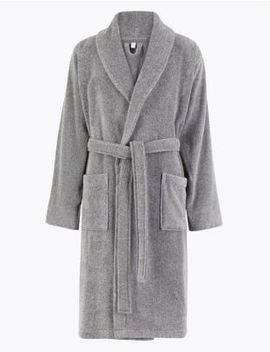 Supersoft Cotton Dressing Gown by Marks & Spencer