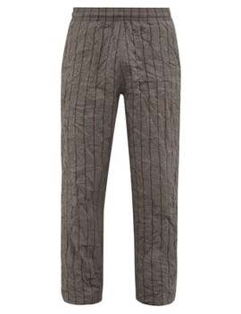 Reduced Striped Crushed Shell Trousers by Our Legacy