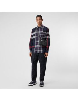 Patchwork Check Stretch Cotton Poplin Shirt by Burberry