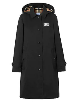Oxclose Logo Patch Trench Coat by Burberry