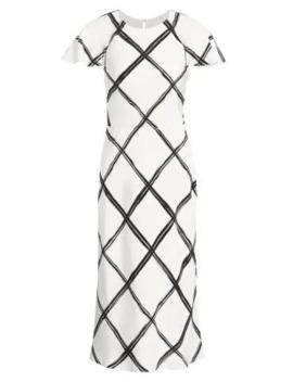 Windowpane Crepe De Chine Sheath Dress by Jason Wu Collection