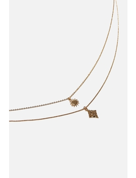 Diamond Star Detail Double Necklace by Cotton On