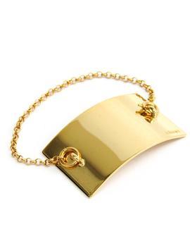 Gold Metal Charm Bracelet by Céline