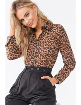 Leopard Print Combo Jumpsuit by Forever 21