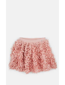 Kids' Brickly Floral Appliqué Skirt by Molo Kids