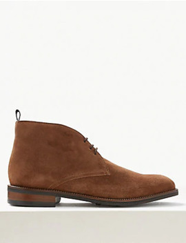 Suede Lace Up Chukka Boots by Standard Tracked:
