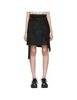 Black Gessato Miniskirt by Ann Demeulemeester