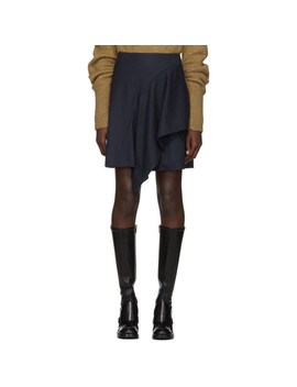 Blue Drape Miniskirt by ChloÉ