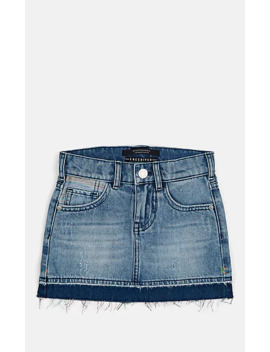 Denim Cutoff Miniskirt by Scotch R'belle
