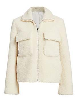 Teddy Faux Shearling Bomber Jacket by Helmut Lang