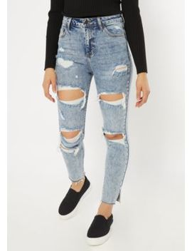 Cello Light Acid Wash Destructed Ankle Jeans by Rue21