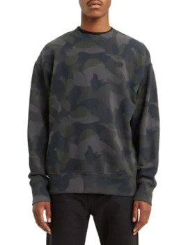 Authentic Camouflage Print Cotton Sweatshirt by Levi's