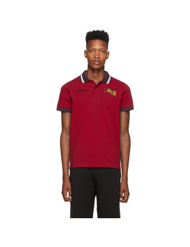 Red Jumping Tiger Polo by Kenzo
