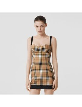 Vintage Check Stretch Jersey Corset Dress by Burberry