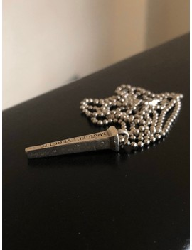.925 Silver Box Nail Necklace by Marcel Everette  ×