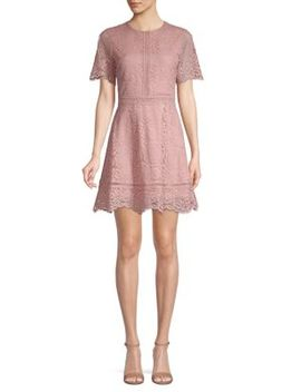 Embroidered Lace A Line Dress by Bb Dakota