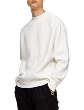 Ecru High Neck Sweatshirt by Topman