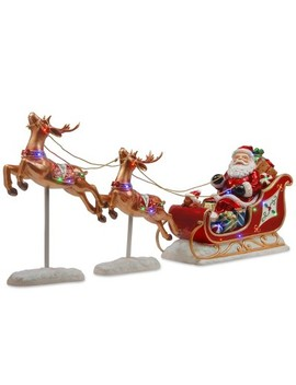 25-led-lit-reindeer-pulling-sleigh-with-santa---national-tree-company by national-tree-company