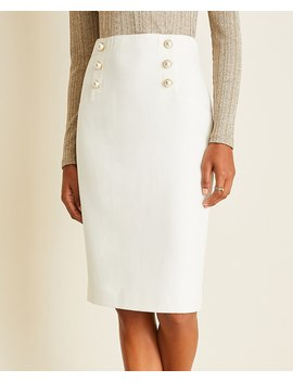 Petite Pearlized Doubleweave Sailor Pencil Skirt by Ann Taylor
