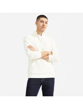 The Twill Half Zip Sweatshirt by Everlane