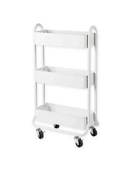 Salt™ Narrow Bath Storage Cart In White by Bed Bath And Beyond
