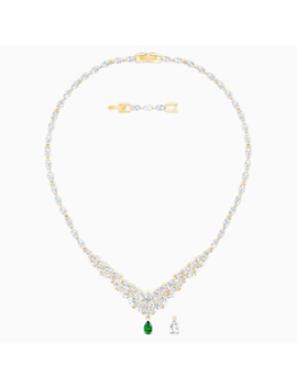 Louison Necklace, White, Gold Tone Plated by Swarovski