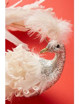White Peacock Ornament by Anthropologie