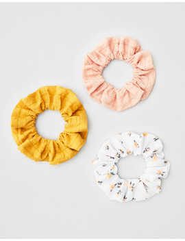Aeo Ditsy Scrunchies 3 Pack by American Eagle Outfitters