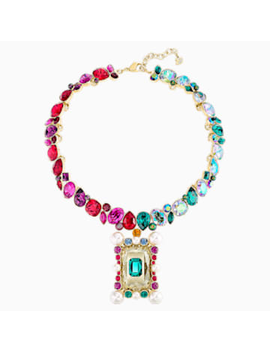 Vintage Opulescence Necklace, Multi Coloured, Gold Tone Plated by Swarovski