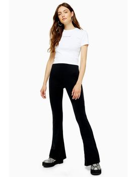 Tall Cupro Flare Trousers by Topshop