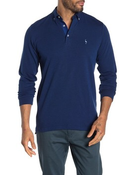 Twill Knit Long Sleeve Polo by Tailor Byrd