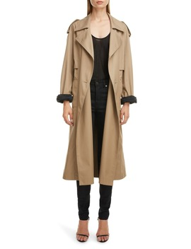 Contrast Cuff Trench Coat by Saint Laurent