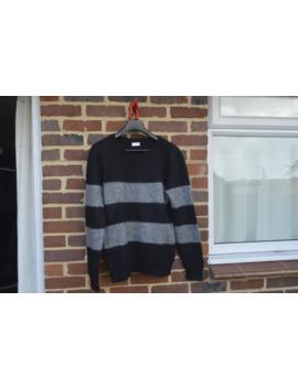 Grey Striped Mohair Sweater by Saint Laurent Paris  ×