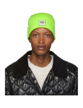 Green New Era Edition Logo Beanie by Opening Ceremony