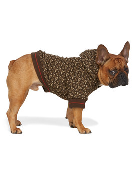 Brown Monogram Dog Hoodie by Burberry