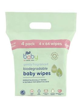 Boots Baby Fragranced Biodegradable Soft Baby Wipes, 64x4 Pack = 256 Wipes by Boots