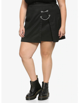 Black Double Chain Mini Skirt Plus Size by Hot Topic