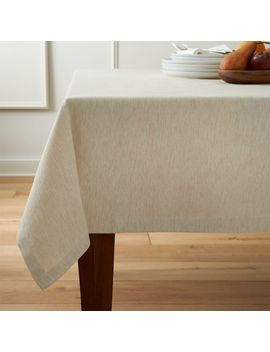 "Linden Ecru  60""X144"" Tablecloth by Crate&Barrel"