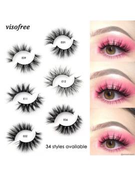 Visofree Mink Lashes 3 D Mink Eyelashes 100% Cruelty Free Lashes Handmade Reusable Natural Eyelashes Popular False Lashes Makeup by Ali Express.Com