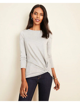 Shimmer Side Knot Tee by Ann Taylor