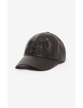 Tiger Leather Cap by Kenzo